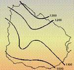 Isohietas anuales (promedio 50 años)
